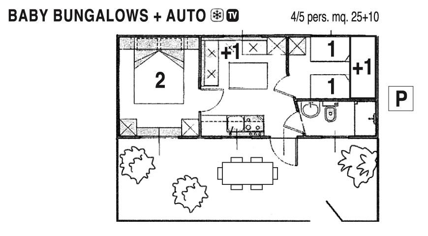 Baby Bungalow Casa Mobile 4/5 pers.