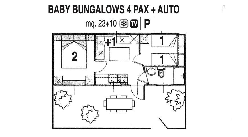 Baby Bungalow Casa Mobile 4 pers.