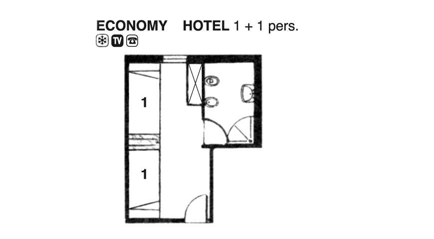 Hotel Cavallino Camera Economy