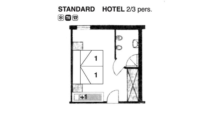 Hotel Cavallino Camera Standard Hotel Valdor