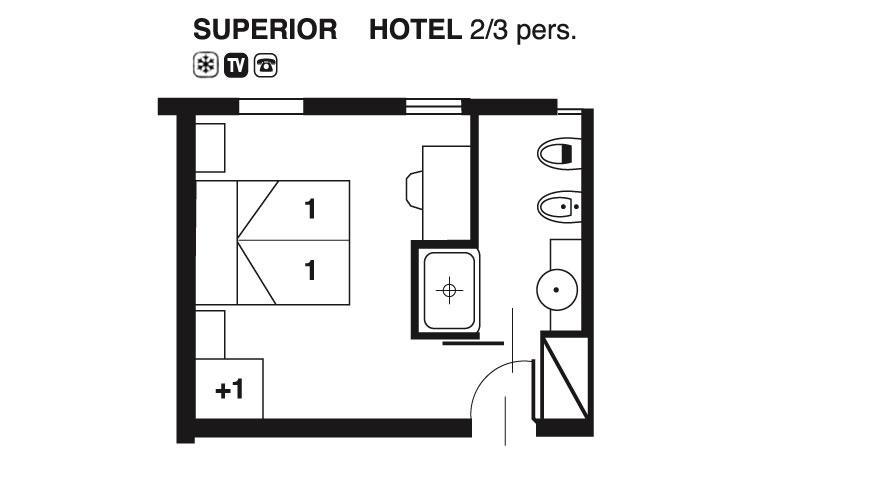 Hotel Cavallino Camera Superior Hotel Valdor